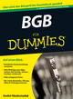 BGB für Dummies, 2nd Edition (3527687009) cover image