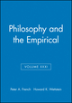 Philosophy and the Empirical, Volume XXXI (140518020X) cover image