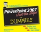 PowerPoint 2007 Just the Steps For Dummies (0470009810) cover image