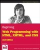 Beginning Web Programming with HTML, XHTML, and CSS, 2nd Edition (0470259310) cover image