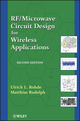 RF / Microwave Circuit Design for Wireless Applications, 2nd Edition (0470901810) cover image