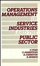 Operations Management in Service Industries and the Public Sector: Text and Cases (0471908010) cover image