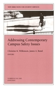 Addressing Contemporary Campus Safety Issues: New Directions for Student Services, Number 99 (0787963410) cover image