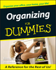 Organizing For Dummies  (1118053710) cover image