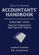 Accountants' Handbook, Volume Two, Special Industries and Special Topics, 12th Edition (1118171810) cover image