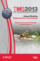 TMS 2013 142nd Annual Meeting and Exhibition, Supplemental Proceedings, Annual Meeting (1118605810) cover image