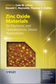 Zinc Oxide Materials for Electronic and Optoelectronic Device Applications (0470519711) cover image