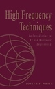 High Frequency Techniques: An Introduction to RF and Microwave Engineering (0471455911) cover image