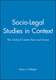 Socio-Legal Studies in Context: The Oxford Centre Past and Future (0631196811) cover image