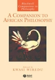 A Companion to African Philosophy (0631207511) cover image