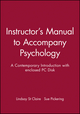 Instructor's Manual to Accompany Psychology: A Contemporary Introduction with enclosed PC Disk (0631209611) cover image