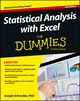 Statistical Analysis with Excel For Dummies, 3rd Edition (1118464311) cover image