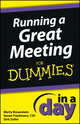 Running a Great Meeting In a Day For Dummies (1118491211) cover image