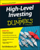 High Level Investing For Dummies (1119140811) cover image