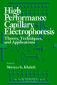High-Performance Capillary Electrophoresis: Theory, Techniques, and Applications (0471148512) cover image