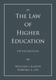 The Law of Higher Education, A Comprehensive Guide to Legal Implications of Administrative Decision Making, 2 Volume Set, 5th Edition (1118032012) cover image