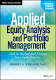 Applied Equity Analysis and Portfolio Management + Online Video Course: Tools to Analyze and Manage Your Stock Portfolio (1118630912) cover image