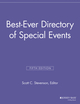 Best Ever Directory of Special Events, 5th Edition (1118692012) cover image
