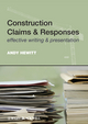 Construction Claims and Responses: Effective Writing and Presentation (0470654813) cover image