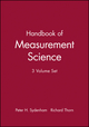 Handbook of Measurement Science, 3 Volume Set (0471934313) cover image