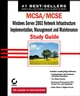 MCSA / MCSE: Windows Server 2003 Network Infrastructure, Implementation, Management and Maintenance Study Guide: Exam 70-291 (0782142613) cover image