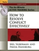 The 60-Minute Active Training Series: How to Resolve Conflict Effectively, Leader's Guide  (0787973513) cover image