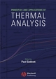 Principles and Applications of Thermal Analysis (1405131713) cover image