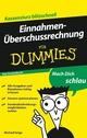 Einnahmenüberschussrechnung für Dummies Das Pocketbuch (3527637613) cover image