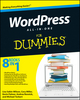 WordPress All-in-One For Dummies (0470877014) cover image