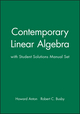 Contemporary Linear Algebra with Student Solutions Manual Set