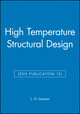 High Temperature Structural Design (ESIS Publication 12) (0852987714) cover image