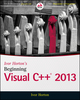 Ivor Horton's Beginning Visual C++ 2013 (1118845714) cover image