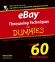 eBay Timesaving Techniques For Dummies (0764559915) cover image