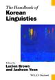 The Handbook of Korean Linguistics (1118354915) cover image