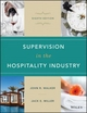 Supervision in the Hospitality Industry, Eighth Edition with Study Guide Set (1119297915) cover image