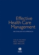 Effective Health Care Management: An Evaluative Approach (1405111615) cover image