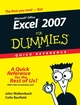Excel 2007 For Dummies Quick Reference (0470046716) cover image