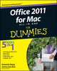 Office 2011 for Mac All-in-One For Dummies (0470903716) cover image