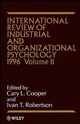 International Review of Industrial and Organizational Psychology, Volume 11, 1996 (0471961116) cover image