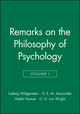 Remarks on the Philosophy of Psychology, Volume 1 (0631130616) cover image