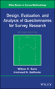 Design, Evaluation, and Analysis of Questionnaires for Survey Research, 2nd Edition (1118634616) cover image