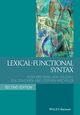 Lexical Functional Syntax, 2nd Edition (1405187816) cover image