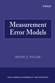Measurement Error Models (0470095717) cover image