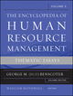 Encyclopedia of Human Resource Management, Volume 3, Critical and Emerging Issues in Human Resources (0470257717) cover image