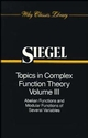 Topics in Complex Function Theory, Volume 3: Abelian Functions and Modular Functions of Several Variables (0471504017) cover image