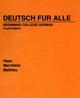 Deutsch für Alle: Beginning College German, 4th Edition (0471573817) cover image