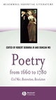 Poetry from 1660 to 1780: Civil War, Restoration, Revolution (0631229817) cover image