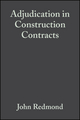 Adjudication in Construction Contracts (0632056517) cover image