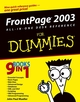 FrontPage 2003 All-in-One Desk Reference For Dummies® (0764575317) cover image