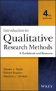 Introduction to Qualitative Research Methods: A Guidebook and Resource, 4th Edition (1118767217) cover image